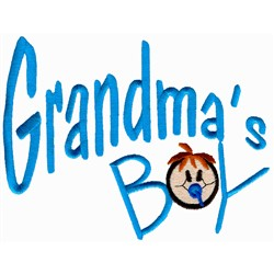 Grandmas Boy embroidery design