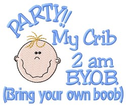 Boy BYOB embroidery design