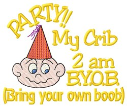 Party BYOB embroidery design