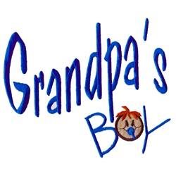 Grandpas Boy embroidery design