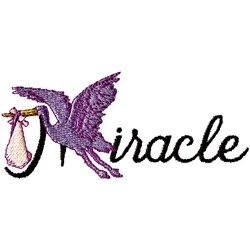 Miracle embroidery design
