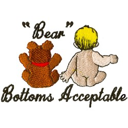 Bear Bottoms embroidery design
