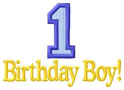 1st Birthday Boy embroidery design