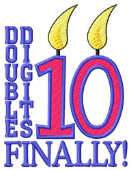 Double Digits embroidery design