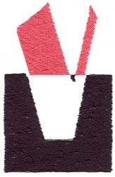 Below the Belt V embroidery design