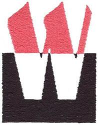 Below the Belt W embroidery design