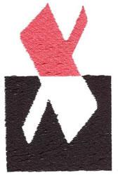 Below the Belt X embroidery design