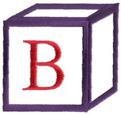 Baby Block B embroidery design