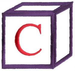 Baby Block C embroidery design
