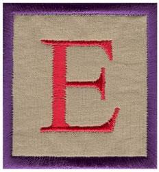 Baby Block E embroidery design
