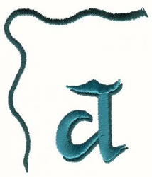 Bow Lowercase a embroidery design