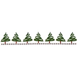 Trees/Snow Border embroidery design