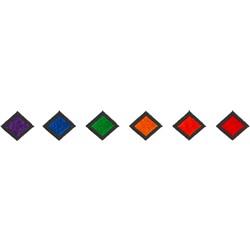 Multicolor Diamond Border embroidery design