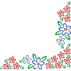 Floral Corner embroidery design