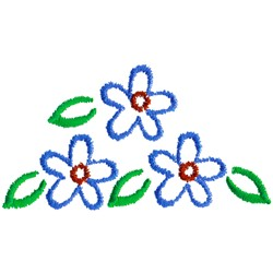Floral Crest embroidery design