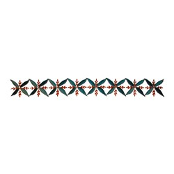 Floral Motif Border embroidery design