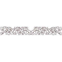 Ivy Border Outline embroidery design