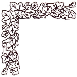 Ivy Corner Outline embroidery design