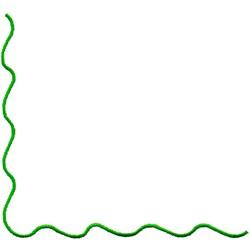 Wave Corner embroidery design