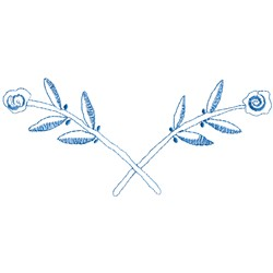 Floral Border Outline embroidery design