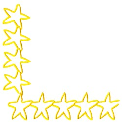 Star Corner embroidery design