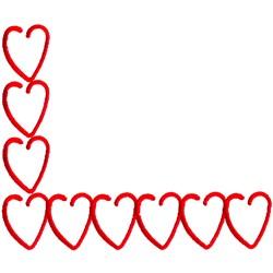 Heart Corner embroidery design