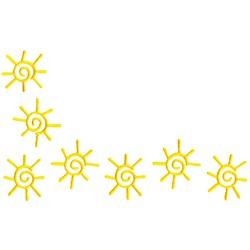 Sunshine Corner embroidery design