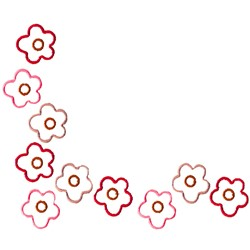 Floral Corner embroidery design