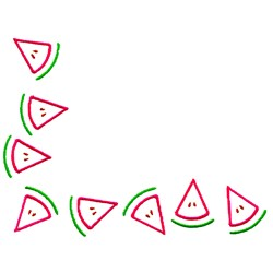 Watermelon Corner embroidery design