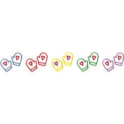 Multicolor Mittens embroidery design