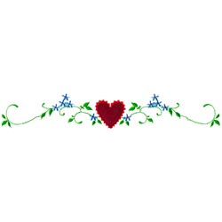 Heart Flowers embroidery design