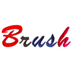 Brush Lowercase a embroidery design