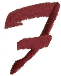 Brush Uppercase F embroidery design