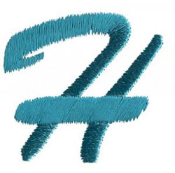 Brush Uppercase H embroidery design