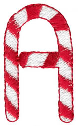 Candy Cane A embroidery design