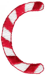 Candy Cane C embroidery design