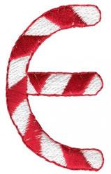Candy Cane E embroidery design