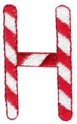 Candy Cane H embroidery design