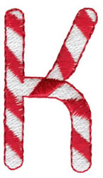 Candy Cane K embroidery design