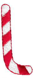 Candy Cane L embroidery design