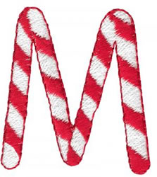 Candy Cane M embroidery design