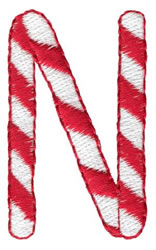 Candy Cane N embroidery design