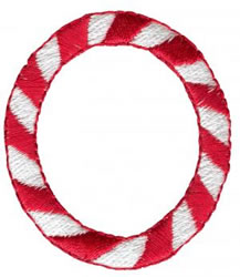 Candy Cane O embroidery design