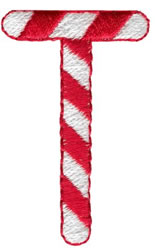 Candy Cane T embroidery design