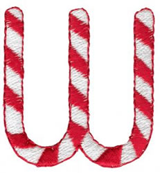 Candy Cane W embroidery design