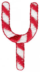 Candy Cane Y embroidery design