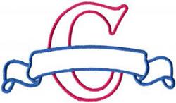 Applique Banner C embroidery design