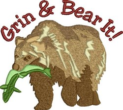 Grin & Bear It embroidery design