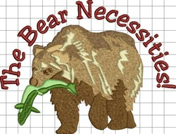 Bear Necessities embroidery design