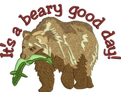 Beary Good Day embroidery design